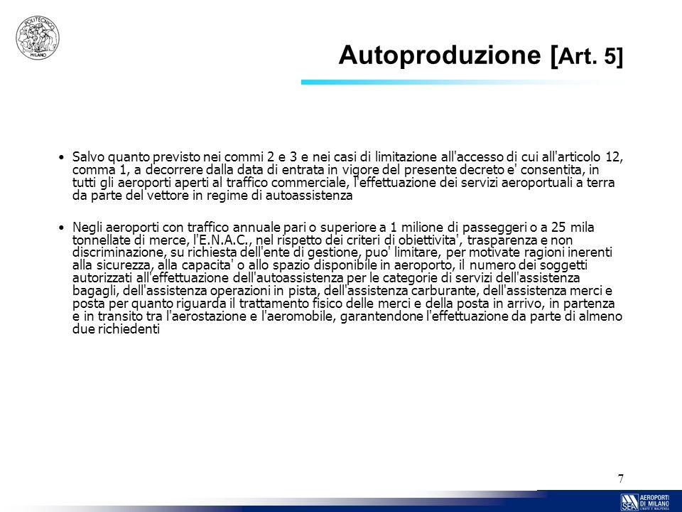 Autoproduzione [Art. 5]